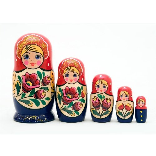 "Volga Maiden Doll 5pc. - 6"""