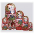 Russian Beauty Matryoshka Doll 7pc. - 7""