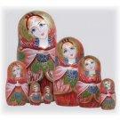 """Russian Beauty Matryoshka Doll 7pc. - 7"""""""