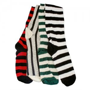 Stockings � Horizontal Stripe, Red/Black