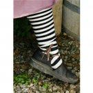 Striped Renaissance Stockings (Hose) - Black/Cream