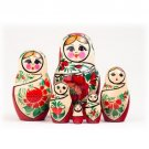 Nolinsk Doll w/White Scarf 6pc. - 5""