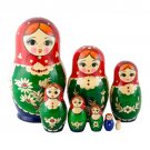Nolinsk Straw Inlay Doll 8pc. - 6""