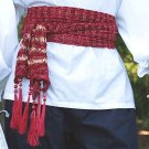 Tasseled Pirate or Gypsy Sash - Burgundy