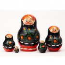 Poppies Nesting Doll 5pc. - 4""