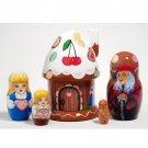 "Hansel & Gretel Gingerbread House Doll 5pc. - 5"""