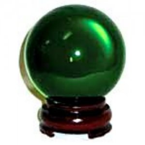 Green Crystal Ball - 50mm
