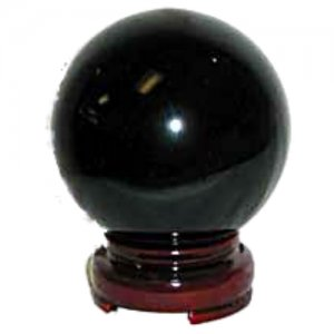 Black Crystal Ball - 80mm
