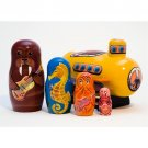 Yellow Submarine Nesting Doll 5pc. - 6""