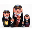 Chimney Sweep Matryoshka Doll 5pc. - 5""