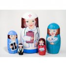 Nurse Doll 5pc. - 5""