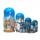 Russian Orthodox Cathedrals Nesting Doll 12pc. - 11""