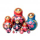 Multicolored Nesting Doll 10pc. - 5""