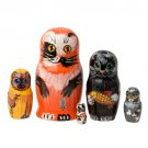Alley Cats Doll 5pc. - 4""