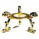 Goldplated Flower Crystal Ball Stand
