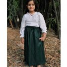 Cotton Medieval Skirt - Dark Green, Large
