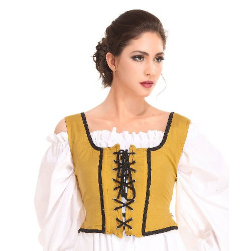 Decorated Wench Bodice � Gold, Medium