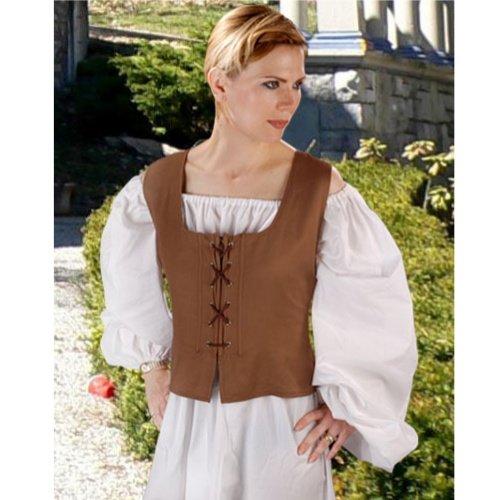 Peasant Bodice � Light Brown, Medium