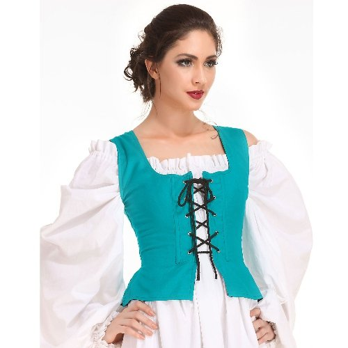 Peasant Bodice � Hunter Green, Medium