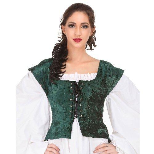 Velvet Bodice � Green, Large