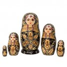 """Deluxe Woodburned Doll 5pc. - 6"""""""