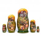 Frost on the Pumpkin Nesting Doll 5pc. - 5""
