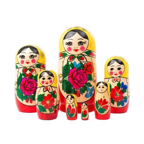 """Authentic Russian Semenov Doll 7pc. - 6"""""""