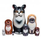 Black & White Cat 7pc. - 7""