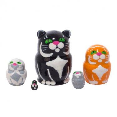 """Mini Black Cat Doll 5pc. - 1"""""""