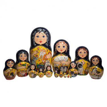 Cat Lover's Dream Doll 15pc. - 12""