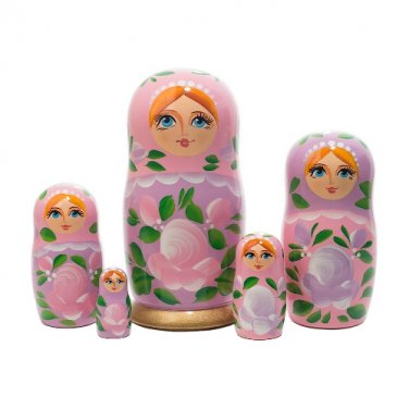 """Pink Classical Doll 5pc. - 6"""""""