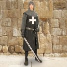 Black Cotton Hospitaller Tunic – S/M