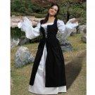 Ameline Country Maid Skirt w/Bodice – Black, X-Large