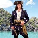 Buccaneer Wool Pirate Coat - Navy, X-Large