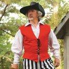 Cotton Pirate Vest - Red, S/M