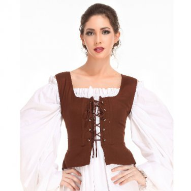 Peasant Bodice � Chocolate, Medium