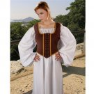 Decorated Wench Bodice – Chocolate, Medium
