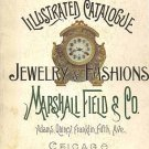 Jewelry European 1896 Fashions Illustrated Catalogue Marshall Field 1970 Reprint SC Book