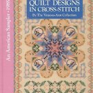 Quilt Designs In Cross Stitch An American Sampler Collection Patterns Crafts1st HC Book