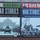 Lot of 2 WAR STORIES by Oliver North Both Books Are Autographed Each With DVDs HCDJ Books