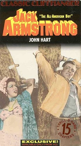 Jack Armstrong The All-American Boy Classic Clift Hangers Serial In 15 Chapters 2 VHS Tapes