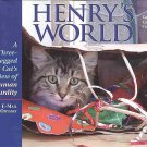 Henry's World A Three-Legged Cat's View of Human Absurdity by Cathy Conheim Autographed SC Book