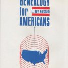 Simplified Genealogy For Americans by E. Kay Kirkham Maps Charts Appendix 1968 HC DJ Book