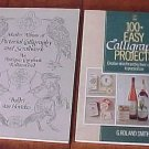 Lot 2 CALLIGRAPHY Pictorial Scrollwork Lettering Books 1633 Reprint Plus Basic Skills SC Books