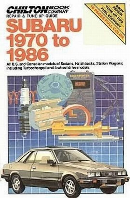 Chilton Subaru 1970-1986 USA Canadian Hatchback Wagons Turbo 4-WD Repair Tuneup Manual SC Book