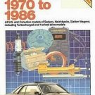 Chilton Subaru 1970-1986 USA Canadian Hatchback Wagons Turbo 4-WD Repair Tuneup Manual SC Book