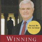 Winning the Future: A 21st Century Contract With America by Newt Gingrich Autographed HCDJ Book