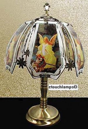 Angel Touch Lamp-Ant. Brass Base