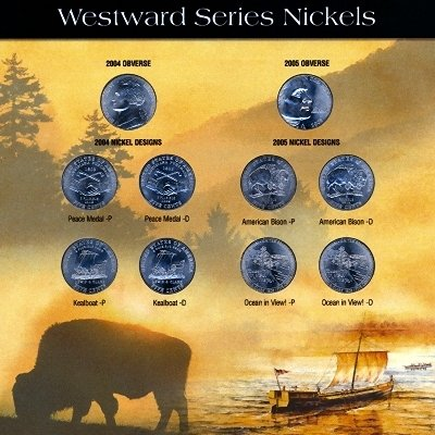 2004 - 2005 10 COIN WESTWARD JOURNEY NICKEL SET - A HISTORIC SET TO OWN OR GIVE AS A GIFT