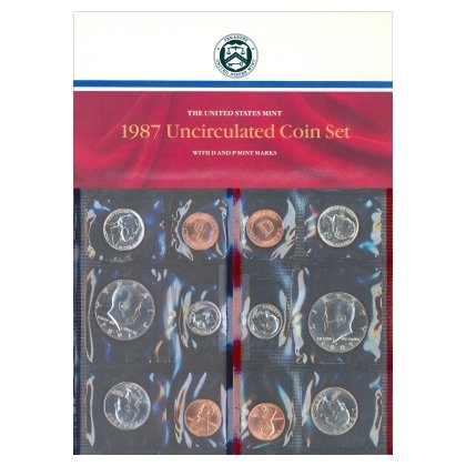1987 US MINT SET - BRILLIANT UNCIRCULATED 10 COIN P&D SET - ORIGINAL GOVERNMENT PACKAGING